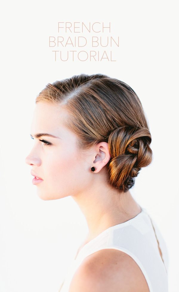french-braid-bun-tutorial