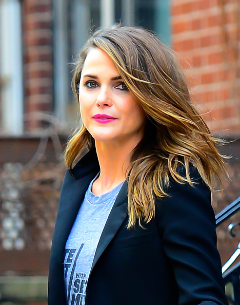 NEW YORK, NY - MARCH 16:  Actress Keri Russell is seen in Brooklyn on March 16, 2015 in New York City.  (Photo by Raymond Hall/GC Images)