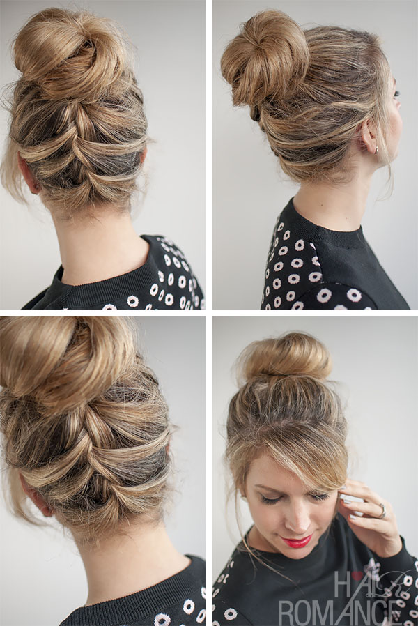Hair-Romance-30-Buns-in-30-Days-Day-16-Upside-Down-French-Braid-Bun-Hairstyle
